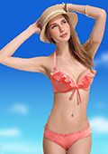 In Stock Girly Pink Halt Top &Low Rise Bottom Two Pieces Bikini Set
