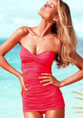 In Stock Sexy Stylish Bandeau Top Two-piece Tankinis Set