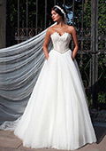 Lace & Tulle A-line Wedding Dress With Beaded Lace Appliques