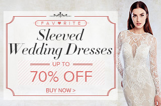 Up To 70% Off For Favorite Sleeved Wedding Dresses